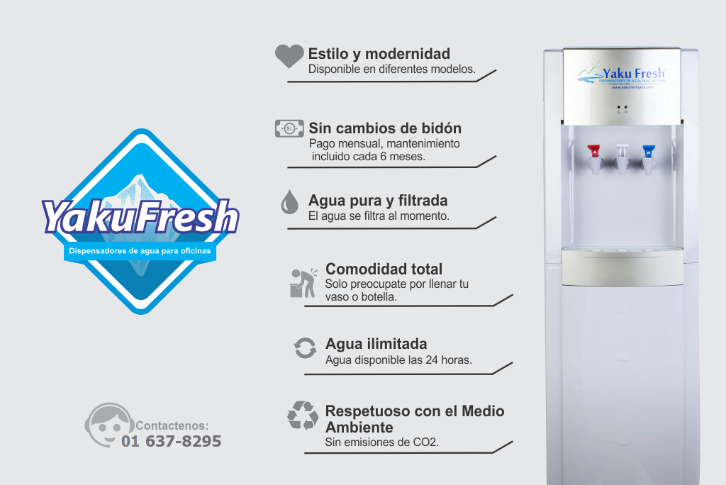 Yakufresh dispensadores de agua para oficina for Dispensadores de agua para oficinas
